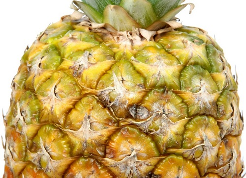 pineapple skin and leaves