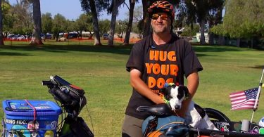 Rescue Dog Breaks Record For Longest Electric Bike Trip