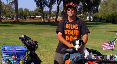 Rescue Dog Breaks Record For Longest Electric Bike Trip
